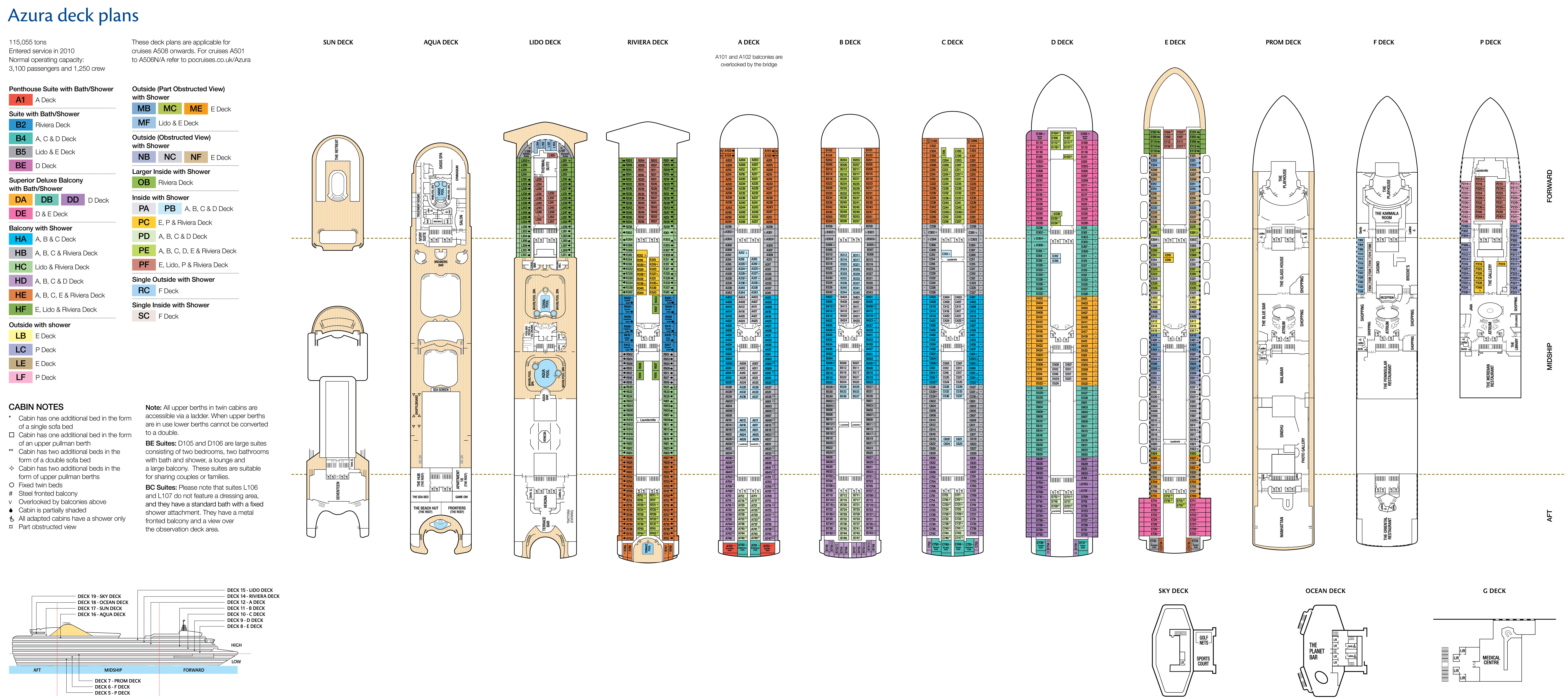 Photo Princess Cruises Deck Plan Images